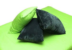 Двуспальный комплект постельного белья зима-лето серого цвета в полоску, Сатин, фото 2