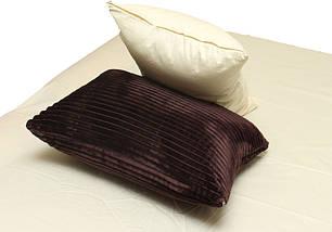 Двуспальный комплект постельного белья зима-лето коричневого цвета в полоску, Сатин, фото 2