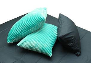 Двуспальный комплект постельного белья зима-лето мятного цвета в полоску, Сатин, фото 2
