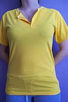 Футболка жёлтая застежка-кнопка, фото 2