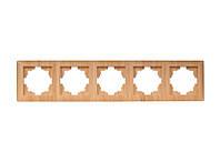 Рамка 5-я горизонтальная Luxel PRIMERA (3925) вишневая
