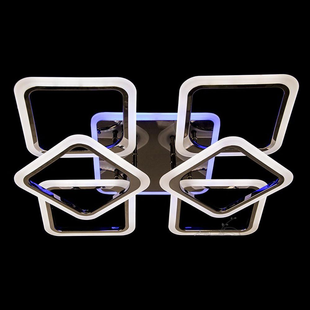 LED-люстра с димером и дополнительной подсветкой цвет 140W Diasha&A8060/4+2BHR LED 3color dimmer