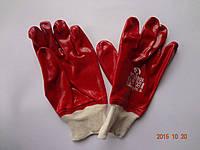 Перчатки красные бензомаслостойкие х/б с ПВХ покрытием INTERTOOL SP-0006 (упаковка 12 пар), фото 1