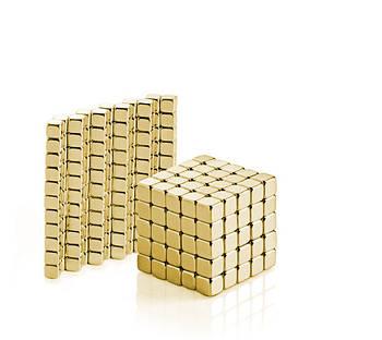 Конструктор-головоломка Тетракуб 5мм Золотой