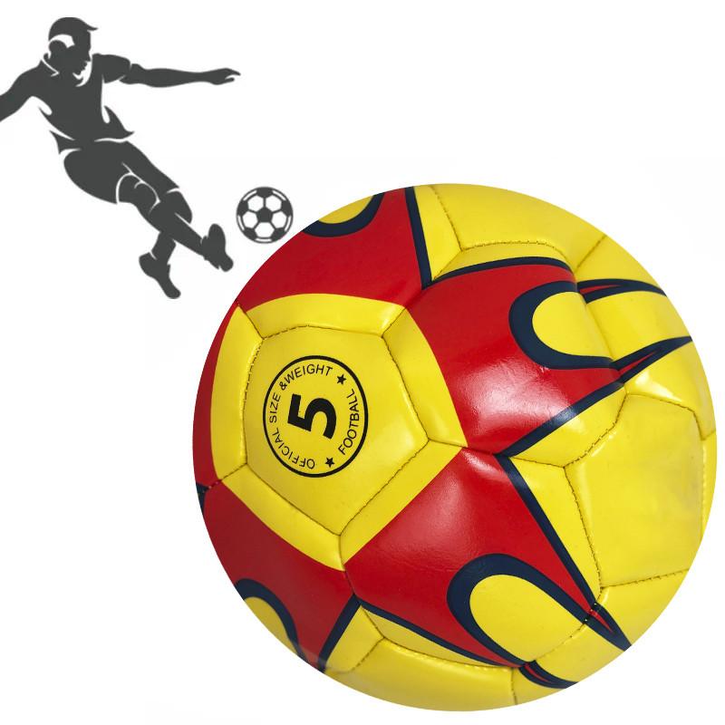 Мяч футбольный PU ламин 891-2 сшит машинным способом Желтый