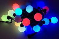 Xmas Гирлянда 28 диодов МУЛЬТИК ШАРИК LED (4метра,черный провод), фото 2