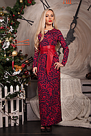 Платье женское модель №232-1, размеры 40 красное