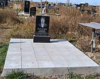 Памятник 60*40*5 с бетонировкой и плиткой