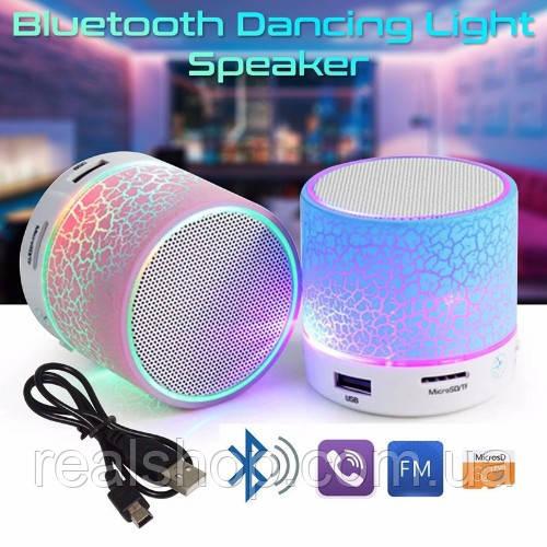 Колонка портативная MUSIC Mini Bluetooth Speaker 60*60*50мм мощн 3Вт, блютус+MicroSD+ аккумулятор S09