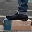 Мужские мокасины кожаные  40-45 синий, фото 2