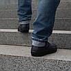 Мужские мокасины кожаные  40-45 синий, фото 4