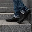 Мужские мокасины кожаные  40-45 синий, фото 6