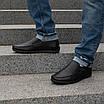 Мужские мокасины кожаные  40-45 синий, фото 5