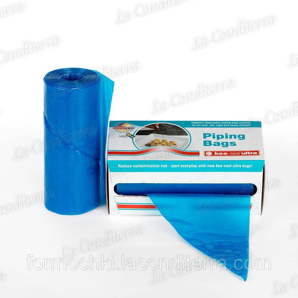 """Мішок кондитерський поліетиленовий 31 см """"Блакитний"""" (12""""= 314 x 160мм), 72 шт."""