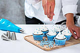 """Мішок кондитерський поліетиленовий 31 см """"Блакитний"""" (12""""= 314 x 160мм), 72 шт., фото 3"""