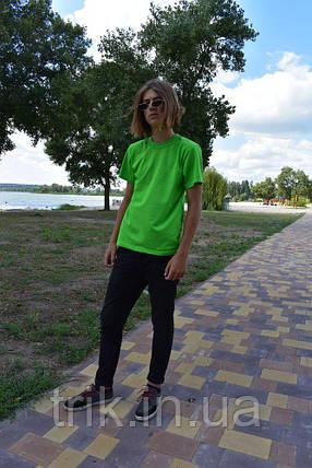 Футболка подростковая салатовая, фото 2