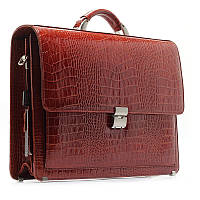Мужская кожаная сумка портфель коричневая деловая для документов des-216-15, фото 1