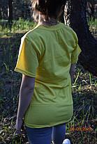 Футболка подростковая лимонная желтая, фото 3
