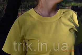 Футболка подростковая лимонная желтая, фото 2