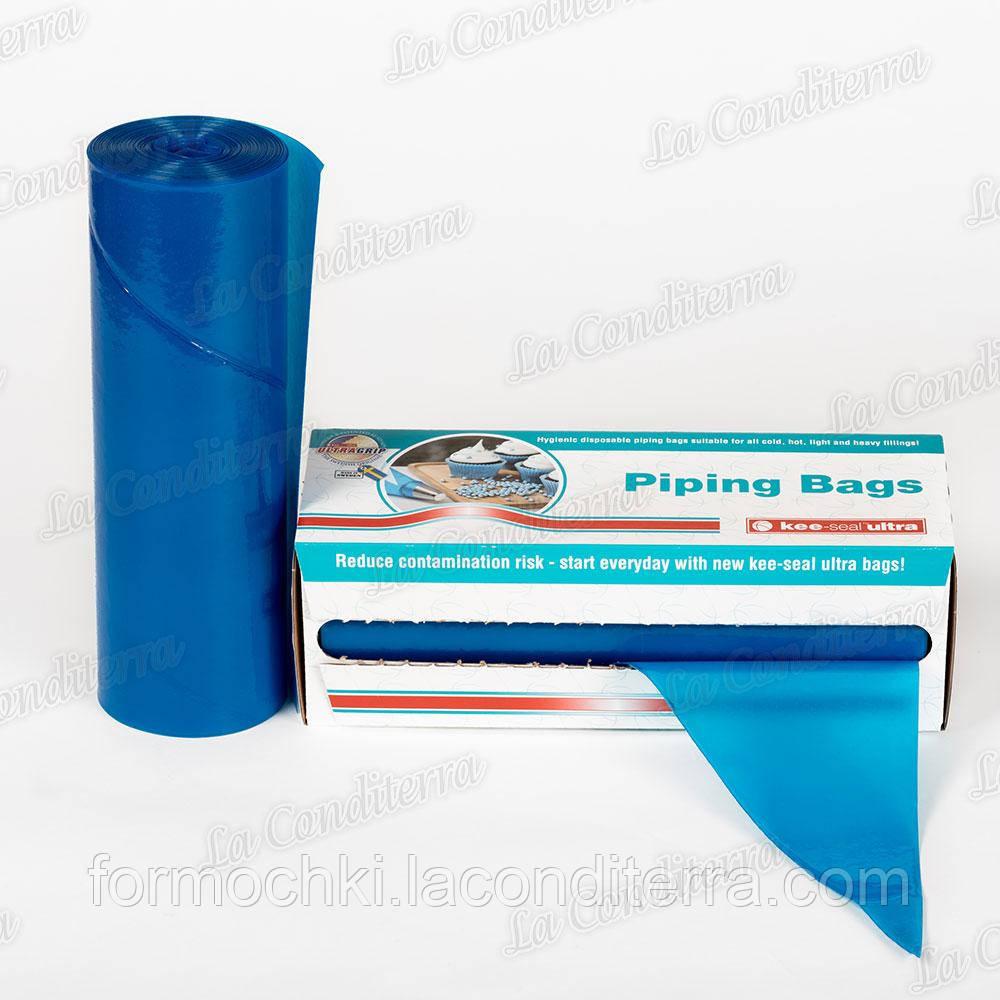 """Мішок кондитерський поліетиленовий 45 см """"Блакитний"""" (18""""= 450 x 230 мм), 72 шт."""