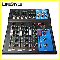 Аудіо мікшер Mixer MG-04BT Ямаха 4 канальний / Підсилювач звуку, фото 1