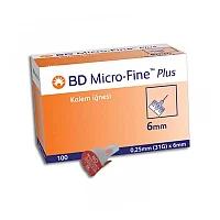 Иглы для инсулиновых шприц-ручек BD Micro Fine Plus (31G)x 6mm/0.25 mm