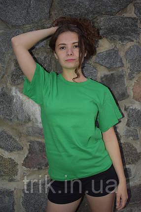 Зеленая футболка подростковая узкая бейка, фото 2
