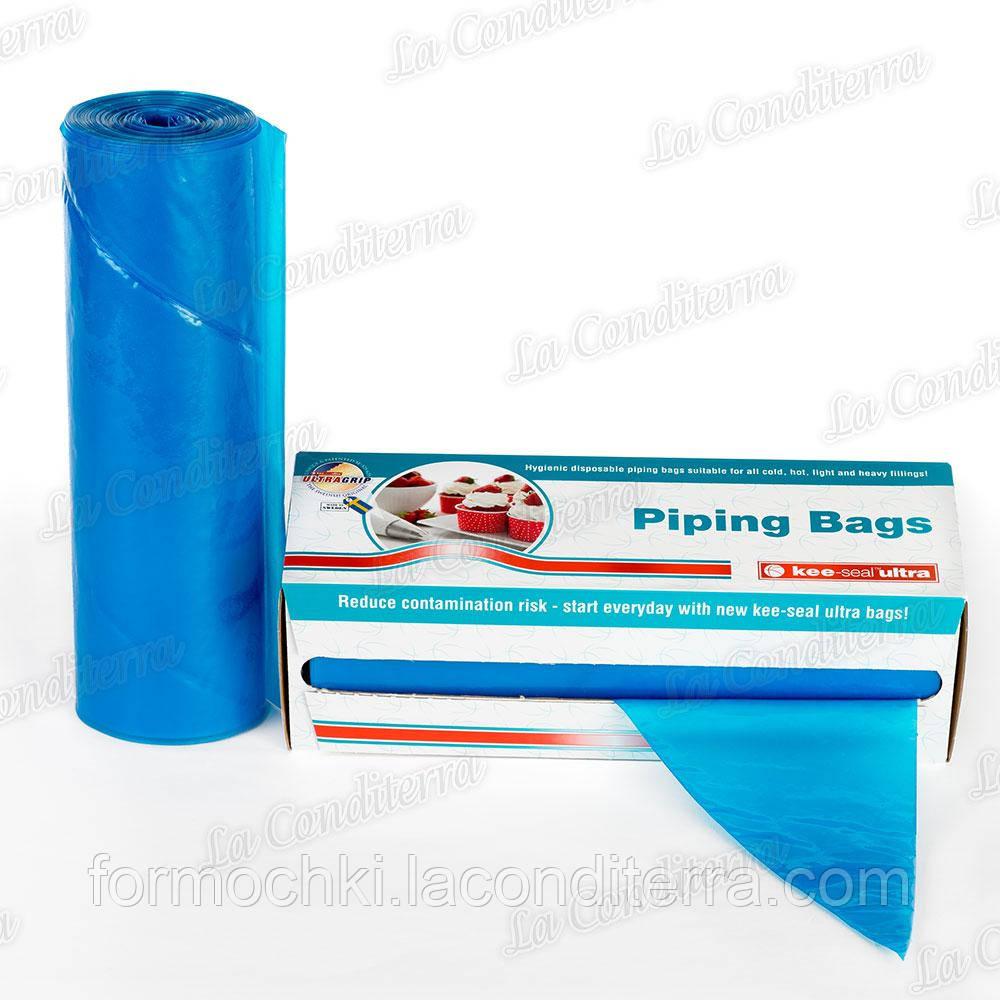 """Мешок кондитерский полиэтиленовый 53 см """"Голубой"""" (21""""= 530 x 270мм), 72 шт."""