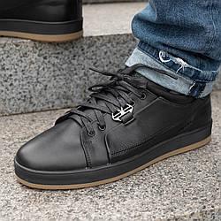 Мужские кожаные туфли спортивные  40-45 чёрный тайфун