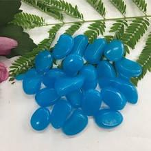 Фосфорні камені в акваріум темно-блакитні - у наборі 10шт., (розмір одного каменю 1,5-2,5 см), смола