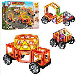 "Магнітний конструктор LT 3002 Magnetic ""Транспорт"", 58 деталей (Limo Toy)"