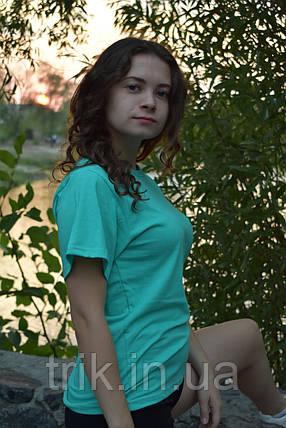 Футболка зеленая ментоловая подростковая, фото 2