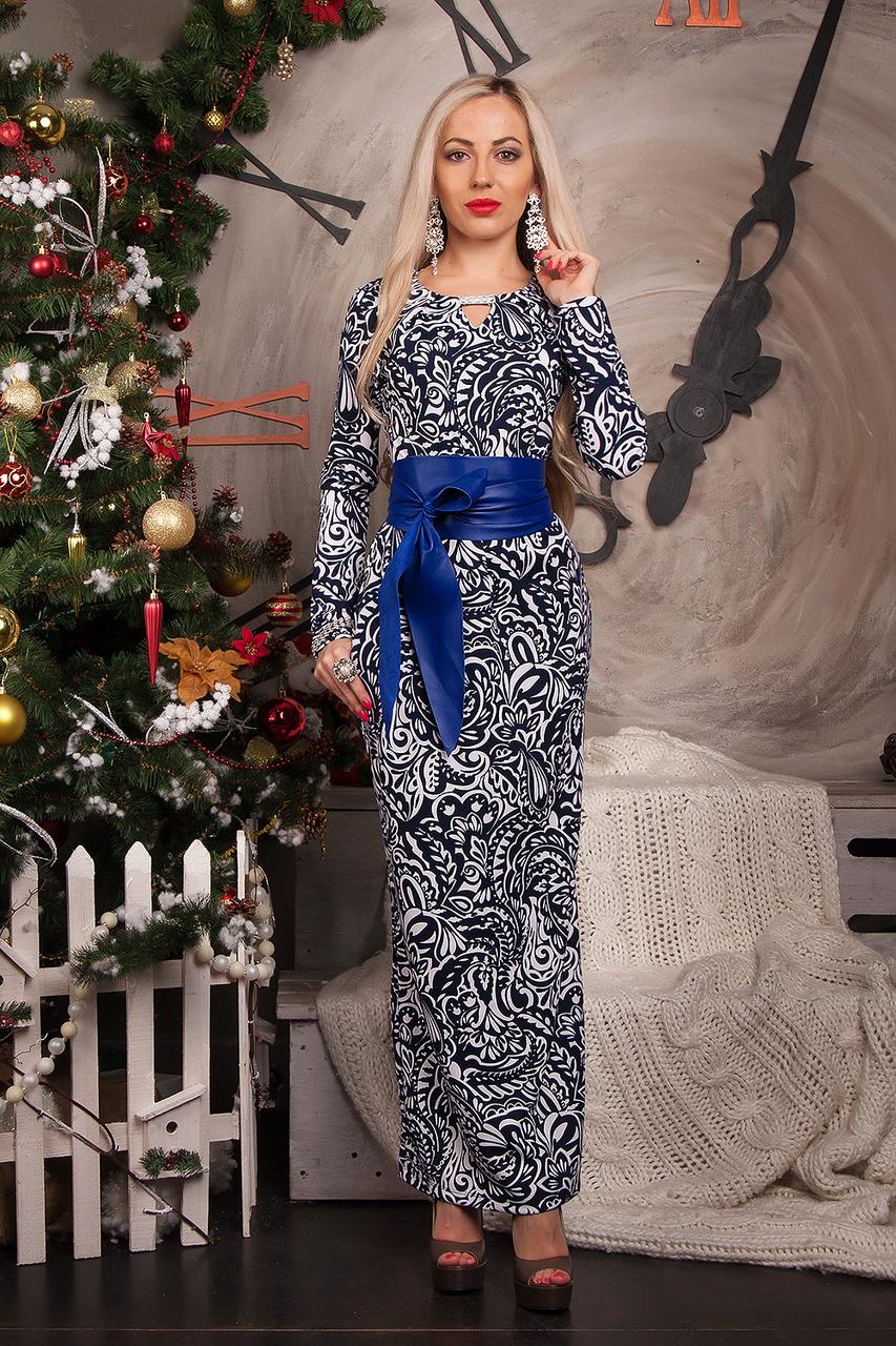 Платье женское модель №232-2, размеры 40 молочное