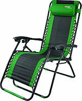 Крісло-шезлонг складне Багатопозиційне 160 х 63,5 х 109 см // Camping Palisad 69606