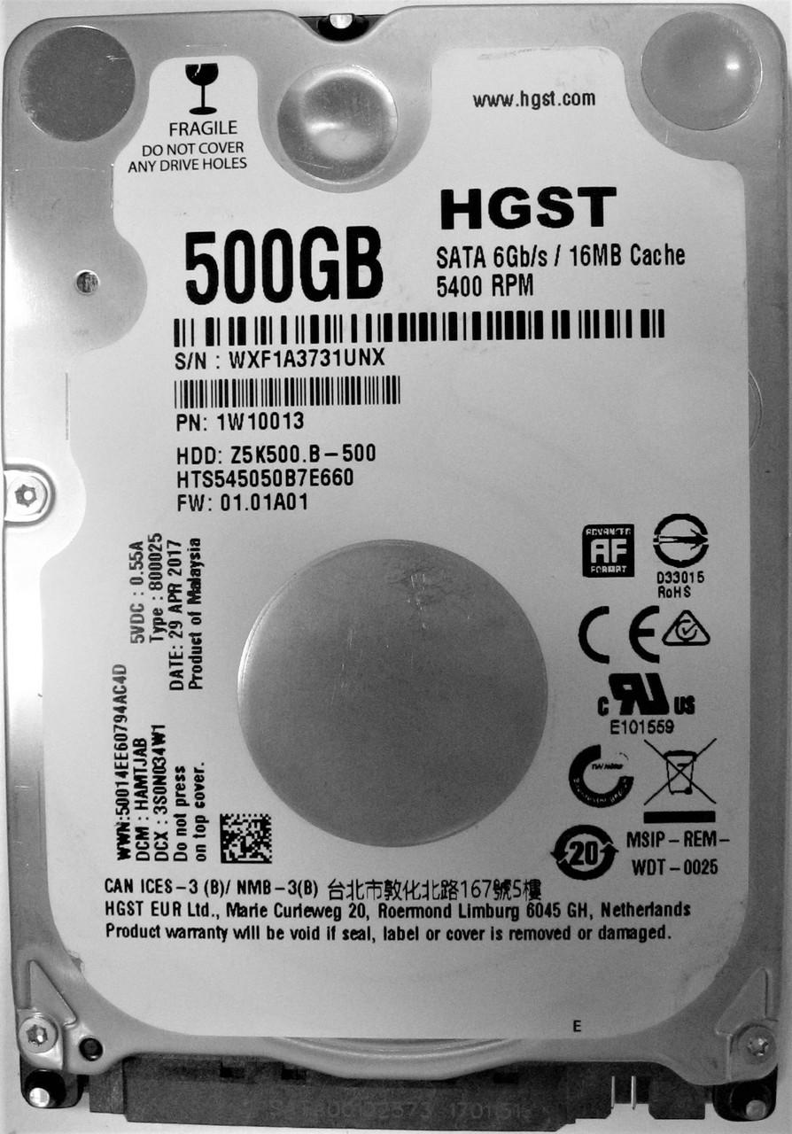 Жесткий диск HDD 500GB 5400rpm 16MB SATA III 2.5 Slim Hitachi Z5K500.B