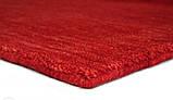 Червоний однотонна килим ручної роботи з натуральної 100% вовни, фото 3