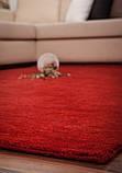 Червоний однотонна килим ручної роботи з натуральної 100% вовни, фото 4