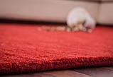 Червоний однотонна килим ручної роботи з натуральної 100% вовни, фото 5