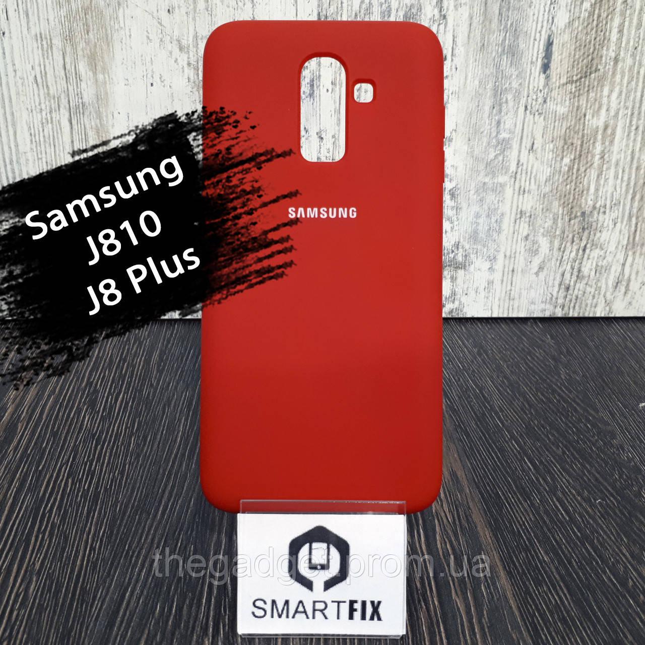 Силиконовый чехол для Samsung J8 2018 (J810)  Красный