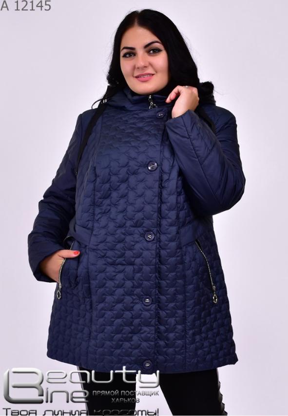 Демисезонная куртка женская батал Фабрика моды Минова Одесса Размеры: 56.58.60.62.64.66