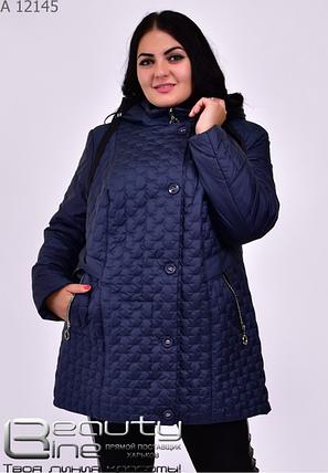 Демисезонная куртка женская батал Фабрика моды Минова Одесса Размеры: 56.58.60.62.64.66, фото 2