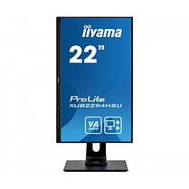 """Монитор Iiyama 21.5"""" XUB2294HSU-B1 VA Black; 1920x1200, 4 мс, 250 кд/м2, DisplayPort, HDMI, D-Sub, 2хUSB2.0,, фото 2"""