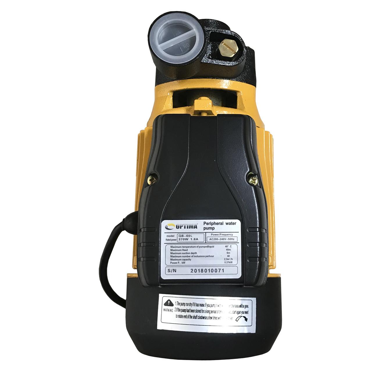 Насос вихревой Optima QB-60 L 0,37кВт