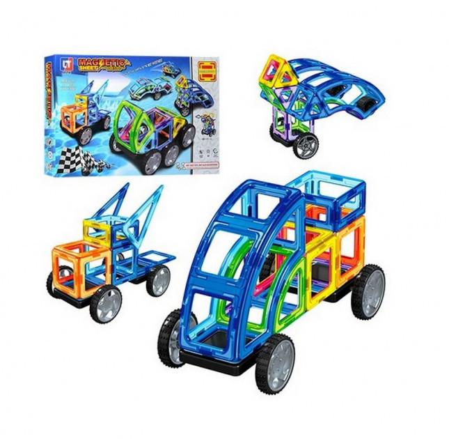 """Магнитный конструктор LT3003 Magnetic Sheet """"Транспорт"""" 87 деталей (Limo Toy)"""
