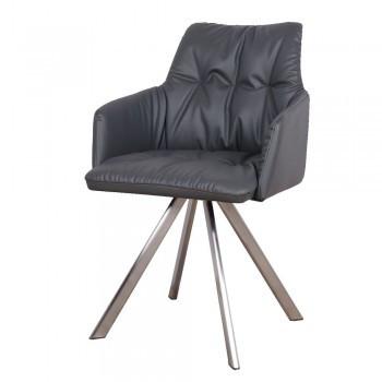 Кресло поворотное LEON (Леон) темно-серый от Niсolas, экокожа