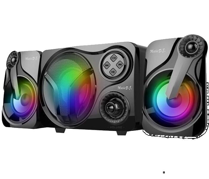 Колонки для ПК SP-60 с LED подсветкой 7 цветов - Компьютерные колонки с сабвуфером для ноутбука, компьютера
