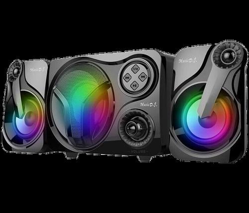Колонки для ПК SP-60 с LED подсветкой 7 цветов - Компьютерные колонки с сабвуфером для ноутбука, компьютера, фото 2