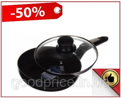 Сковородка с тефлоновым покрытие A-plus 26 см с крышкой, Тефлоновая сковородка
