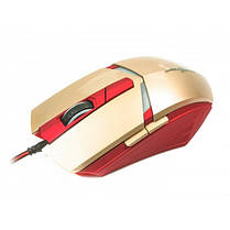 Мышь Maxxter G1 Iron Claw Gold/Red USB, фото 2