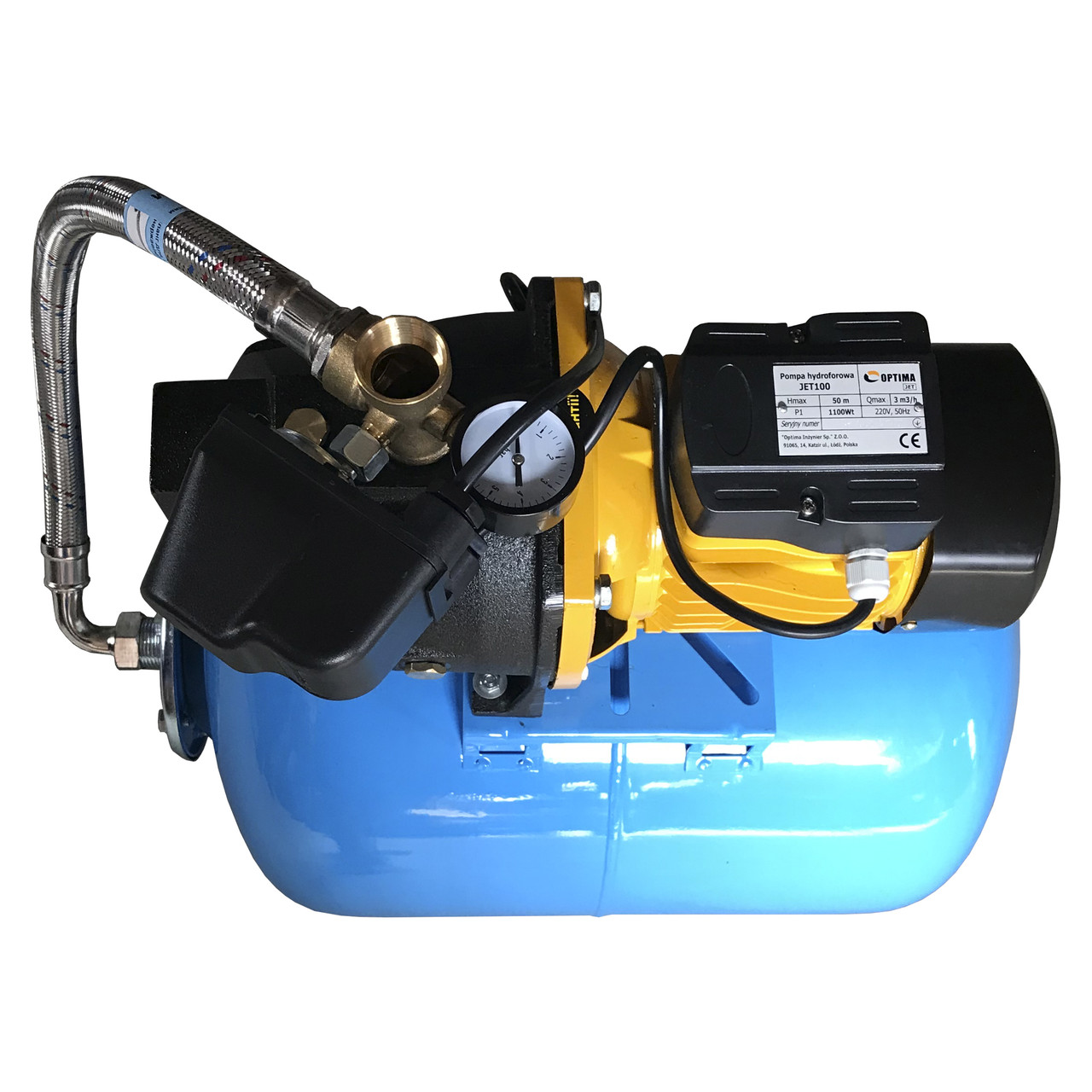Насосна станція Optima JET100-50 1,1 кВт чавун довгий на гребінці